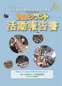 2013年度夏原グラント活動報告書表紙