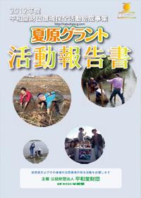 2012年度夏原グラント活動報告書表紙